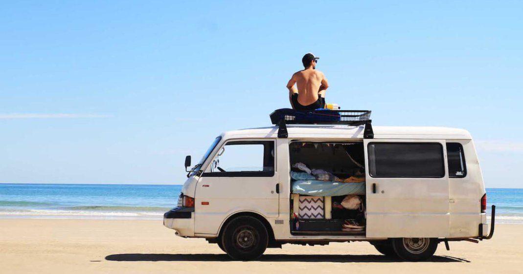 Camper am Strand